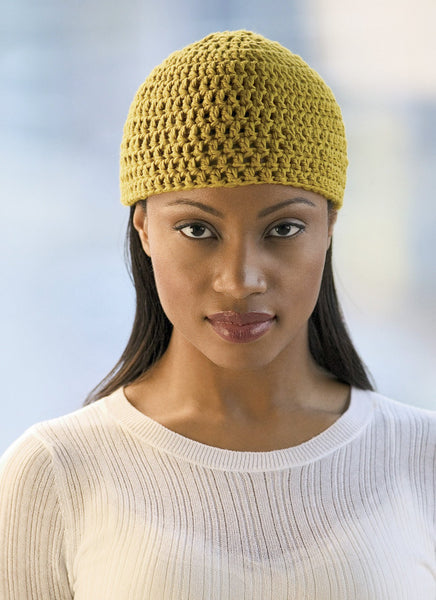 Crochet Beanie in Blue Sky Organic Cotton Worsted (CB2)