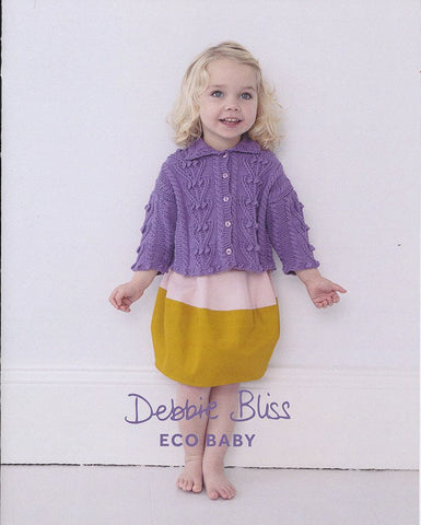 Bobble and Cable Cardigan in Debbie Bliss Eco Baby (DB072)-Deramores