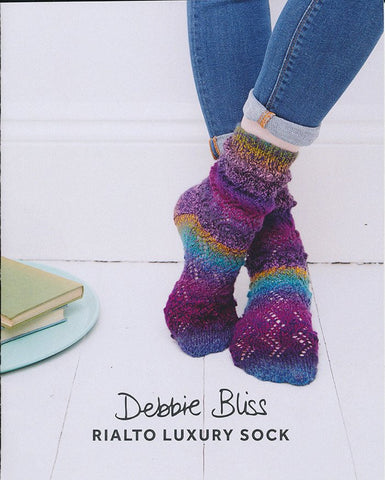 Bobble Lace Socks in Debbie Bliss Rialto Luxury Sock (DB079)-Deramores