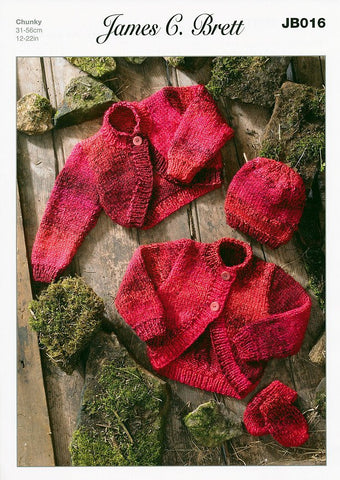 Boleros, Hat and Mittens in James C. Brett Marble Chunky (JB016)-Deramores