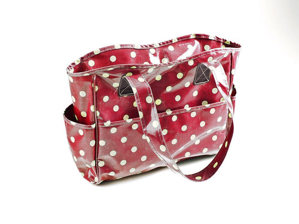 Hobby and Gift Vinyl Crafters Bag - Cherry Red Spot-Deramores