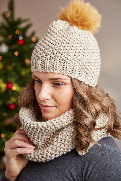 Deramores Studio Chunky Beanie and Snood Pack – Taupe