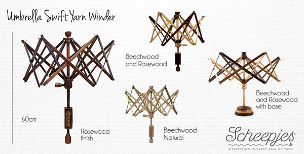 Umbrella Swift Yarn Winder (Rosewood)