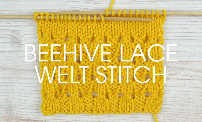 Stitch of the Week: Beehive Lace Welt