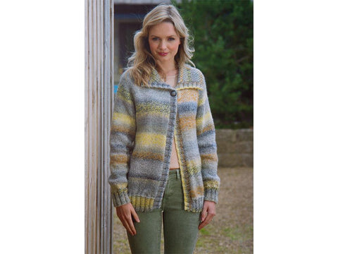 Ladies Cardigan in James C. Brett Marble Chunky (JB554)