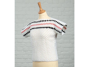 Granny Stripe Top by Fran Morgan in Deramores Studio DK