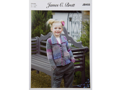 Cardigan in James C Brett Marble Chunky - JB455