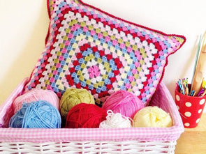 Summer Granny Cushion by Kelly Groves in Stylecraft Special DK
