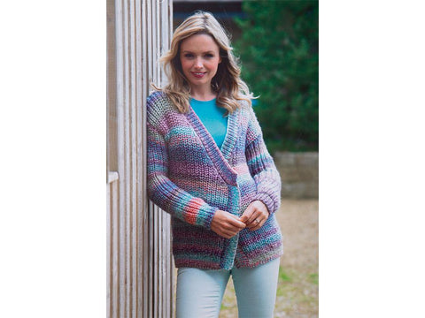 Ladies Jacket in James C. Brett Marble Chunky (JB552)
