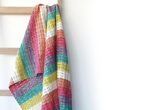 Sea Shell Blanket by Happy in Red