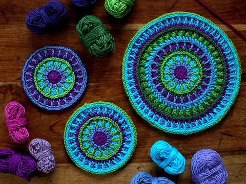 Energy Mandala by Anna Nikipirowicz in Rowan Cotton Glace