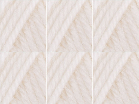 Cygnet Yarns Pure Wool Superwash 6 Ball Value Pack White