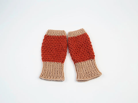 Romance Fingerless Mittens by Charmaine Fletcher in Deramores Studio Aran