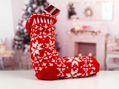 Nordic Christmas Stocking by Ruth Dorrington in Deramores Studio Chunky