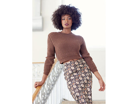 Cropped Sweater in Rowan Alpaca Soft DK