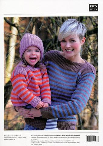 Striped Sweaters in Rico Design Essentials Soft Merino Aran (026)