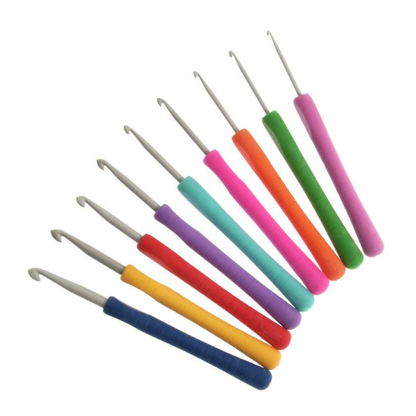 Groves Crochet Hook Set: Easy Grip with Flat Finger: 14cm x Sizes 2-6mm