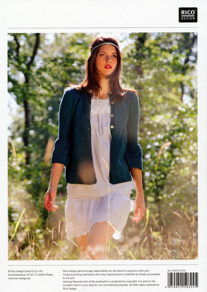Cardigan with Puffed Sleeves in Rico Design Essentials Cotton DK (074)