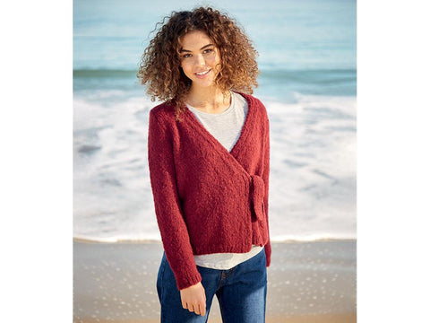 Wrap Cardigan in Sirdar Girlfriend (10055)