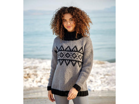Geometric Fairisle Sweater in Sirdar Girlfriend (10058S)
