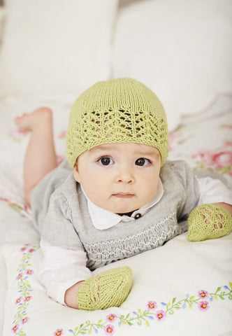 Blanket, Hat and Mittens in Deramores Baby DK (1022) - Digital Version
