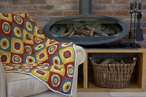Fireside Throw - By Leonie Morgan - Pattern Only