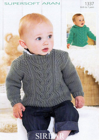 Sweaters in Sirdar Supersoft Aran (1337)