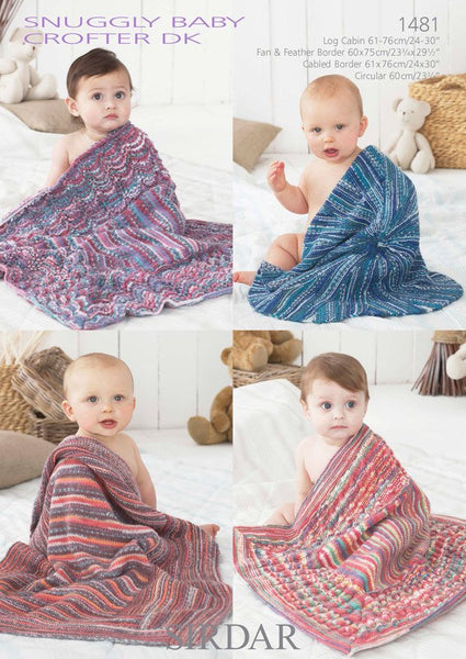 Blankets In Sirdar Snuggly Baby Crofter DK (1481)