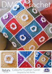 DMC Crochet Colourful Cushion Cover (14893L/2)