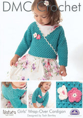 DMC Crochet Girls' Wrap Over Cardigan (14931L/2)