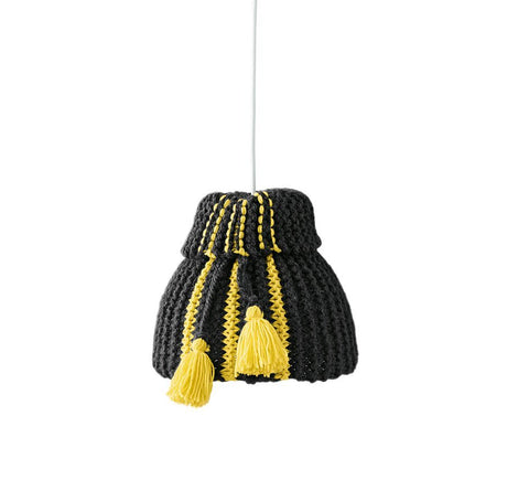Black and Yellow Lampshade in Bergere de France Ideal and Recyclaine (675.83)