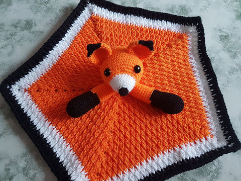 Foxy Fox Lovey Security Blanket by Crafting Happiness in Deramores Studio DK