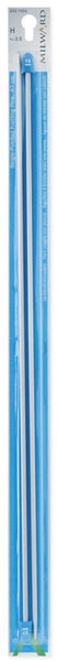 Milward Single Point Knitting Needles (Aluminium) - 40cm (Pair)