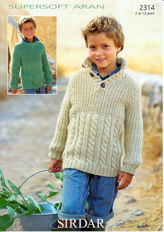 Sweaters in Sirdar Supersoft Aran (2314)