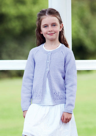 Girls Round Neck Cardigan in Sirdar Country Style DK (2436) - Digital Version