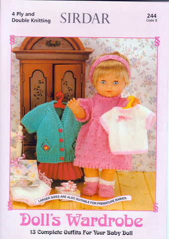 Dolls Wardrobe by Sirdar (244B)