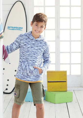 Boys Hooded Sweater and Jacket in Sirdar Snuggly Jolly (2462)