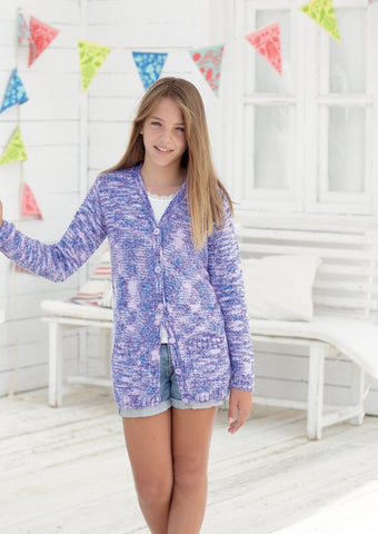 Girls Cardigans in Sirdar Snuggly Jolly (2464)