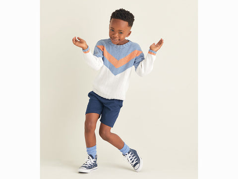 Boys Sweater in Sirdar Snuggly Replay DK (2531S)