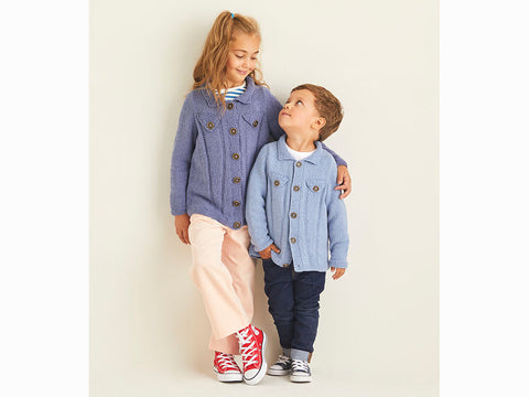 Children's Jackets in Sirdar Snuggly Replay DK (2537S)