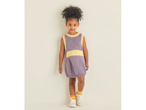 Girls Dress in Sirdar Snuggly Replay DK (2544S)