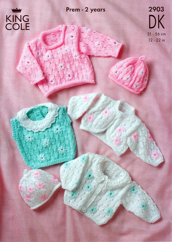 Cardigan, Sweater, Top, Bolero and Hat in King Cole DK (2903)