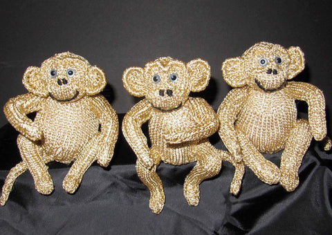 MadMonkeyKnits 3 Wise Monkeys (300) - Digital Version