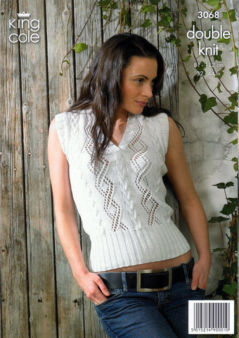 Sweater & Slipover in King Cole Bamboo Cotton DK (3068)
