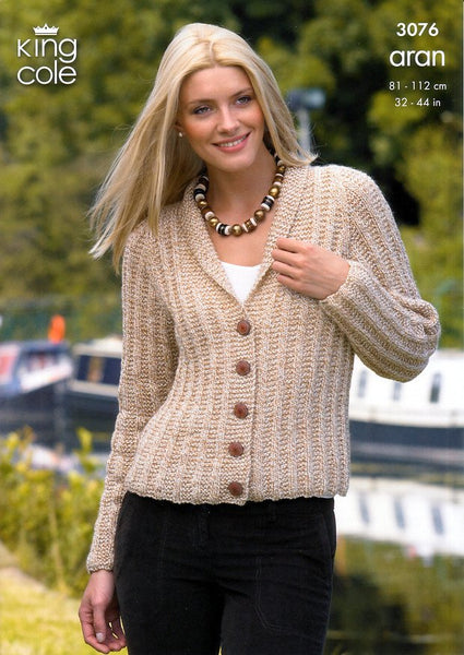 Cardigan and Bolero Knitted in King Cole Fashion Aran (3076)