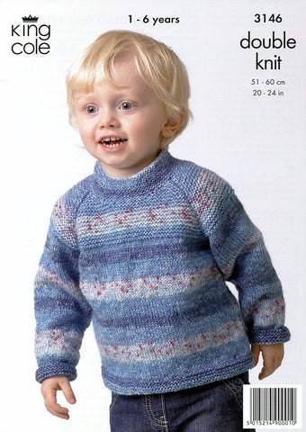 Sweater & Cardigan in King Cole Splash DK (3146)