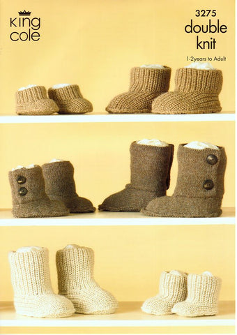 Hug Slippers in King Cole Baby Alpaca DK (3275)