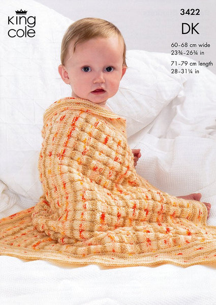 Blankets in King Cole Splash DK (3422)