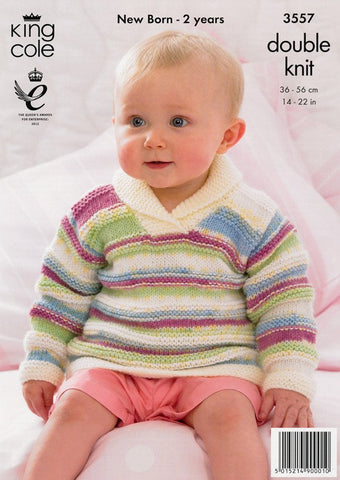 Sweater, Jacket and Hat in King Cole DK (3557)