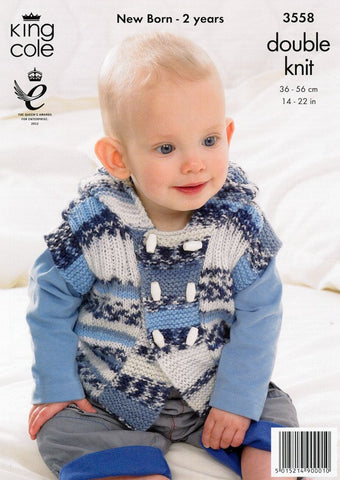Gilet, Jacket and Hat in King Cole DK (3558)
